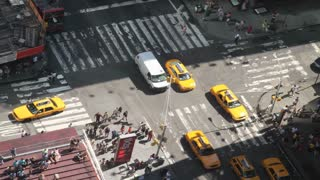 Closeup on Times Square Intersection Timelapse