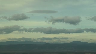 Cloud Movement Over Mountains