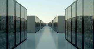 Cloud shaped datacenter room