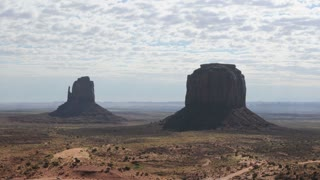 Cloud Timelapse Over Monument Valley