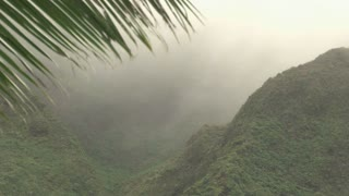 Clouds and Fog Move through Hawaiian Mountains
