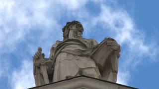 Clouds Moving Above Saint Paul Statue