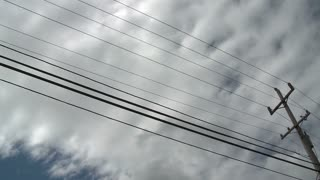 Clouds Over Telephone Lines Timelapse