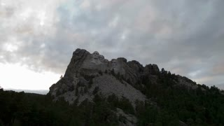Clouds Pass Over Mount Rushmore