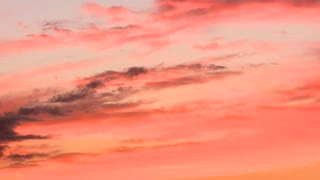 Clouds Stretch Sunset Timelapse