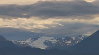 Clouds Sweep Over Mountain Range