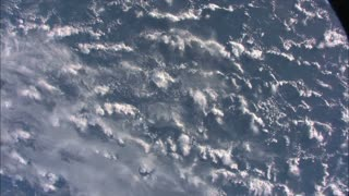 Cloudy Atmosphere View From Space Station