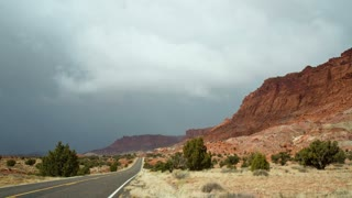 Cloudy Desert Road Time Lapse
