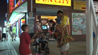 Clown Entertaining Kids on Ocean City Boardwalk 3