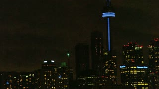 CN Tower Glowing at Night