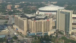 CNN Center and Georgia Dome