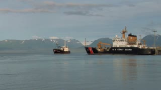Coast Guard And Crabbing Vessels