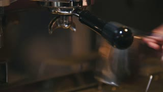 Coffee machine - drinking is poured into a cup of, cafe
