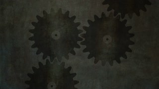Cogs moving. Concept of teamwork. Symbol of business cooperation.