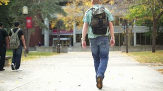 College Student Walking on Campus