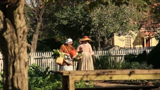 Colonial Women Walking