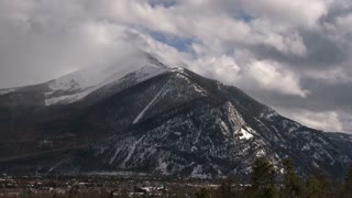 Colorado Snow Capped Mountain Timelapse