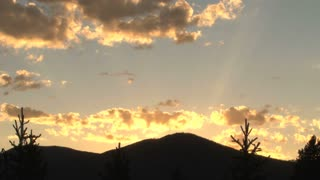 Colorado Summer Sunset and Mountain Skyline 3