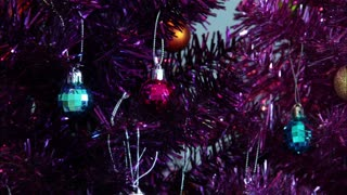 Colored Tree And Ornaments Timelapse