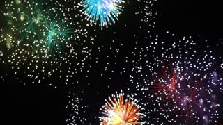 Colorful Firework Display