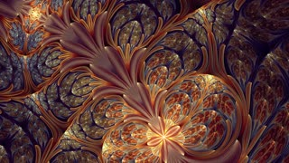 Colorful Fractal Hypnotic Background