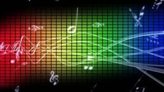 Colorful Music Waveform Black Background