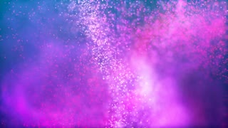 Colorful particles into a rainbow of colors slow motion