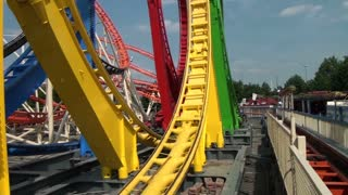 Colorful Roller Coaster Loops