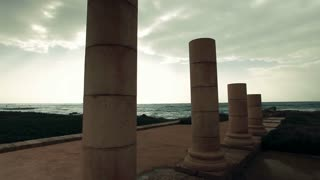 Columns at Ruins of Caesarea