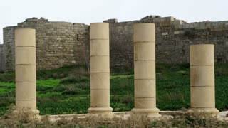 Columns In Front Of Ruins