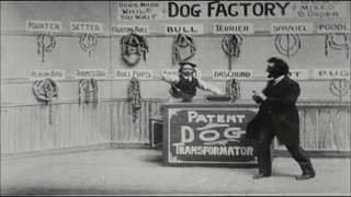 Comedic Dog Factory Skit in Vaudeville Show
