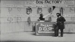 Comedic Skit Where They Make Hot Dogs with Actual Dogs in Vaudeville Show