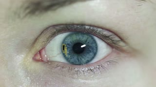 Concept video. Contact lenses with chip inside