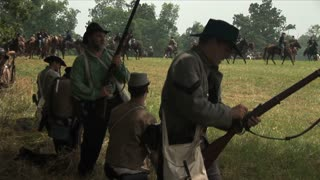 Confederate Dismounted Cavalry