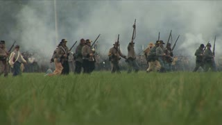 Confederates Attack and Fire