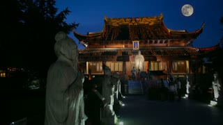 Confucian Temple and Full Moon