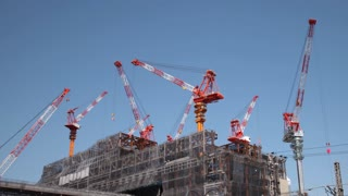Construction Cranes Time Lapse