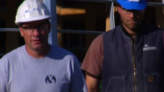 Construction Workers Walked Toward Camera