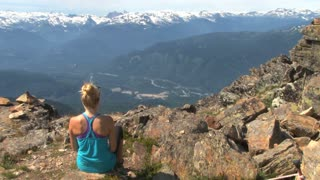 Contemplation On Canadian Mountain Peak