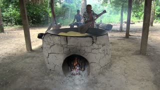 Cooking Manoic On Fire Oven