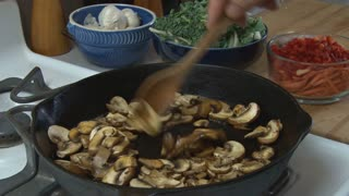 Cooking Mushrooms in a Skillet