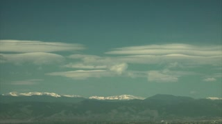 Cool Clouds Changing in the Sky Above Mountain Range