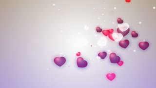 cool hearts background