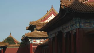 Corner of the Forbidden City in China