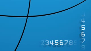 Countdown digital numbers on a moving background