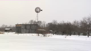 Country Windmill Snow