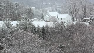 Countryside Church in Snow