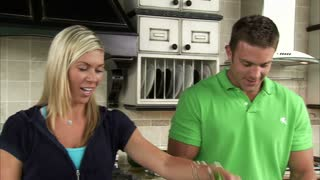 Couple Preparing a Salad in the Kitchen Dolly Shot 2