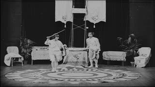 Couple Spinning Trick in Vaudeville Show