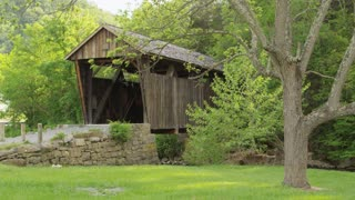 Covered Bridge in the Countryside